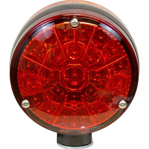 Allis Chalmers/John Deere LED Double-Sided Flashing Light - Amber/Red