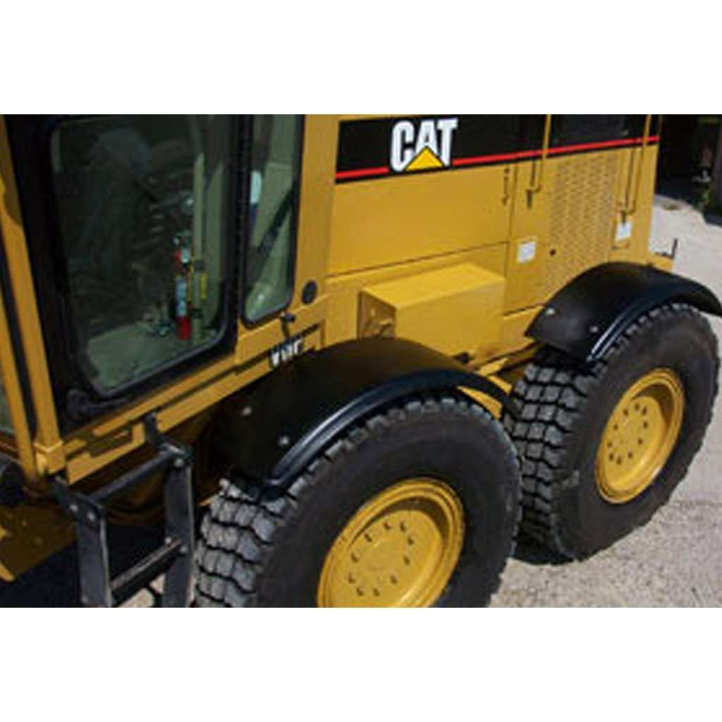 Motor Grader Poly Round Rear Fenders - Weld On