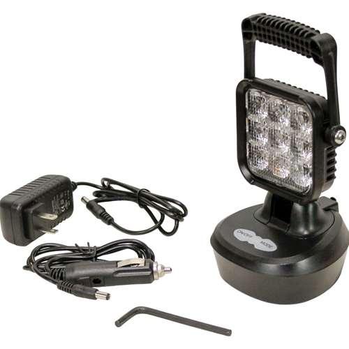 KM LED Rechargeable Flashing Amber Work Light