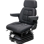 Case 870-2870 Sears Series KM 1004 Seat & Mechanical Suspension - Black Fabric