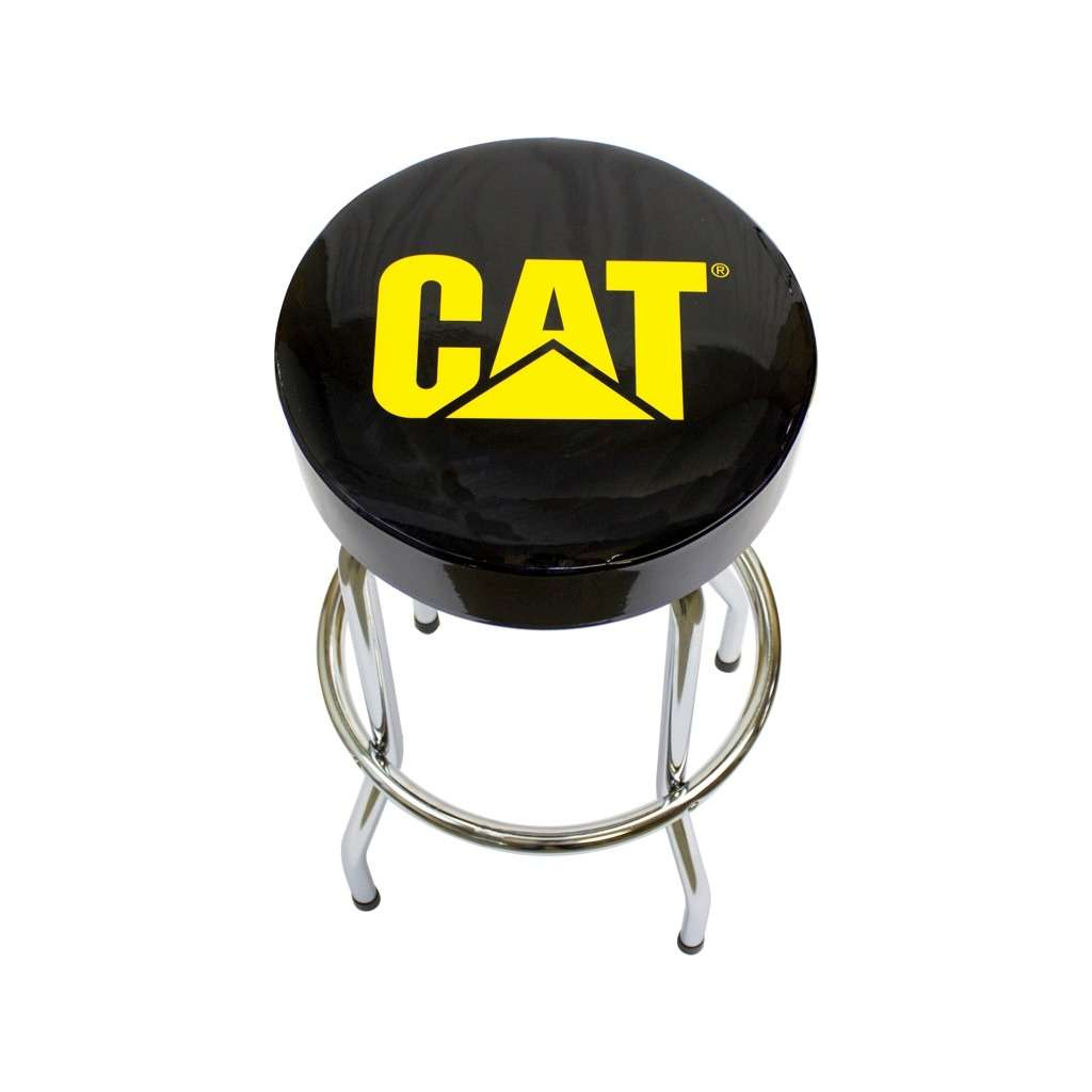 Cat Logo Barstool - Black Vinyl