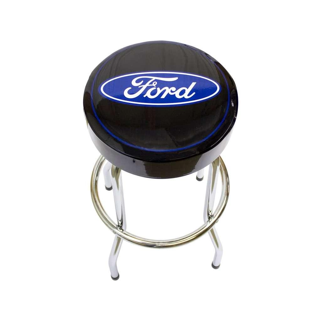 ford logo barstool black vinyl ford garage stool
