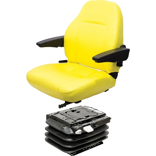 John Deere Air Seat Suspension : Jd series open station km uni pro seat air