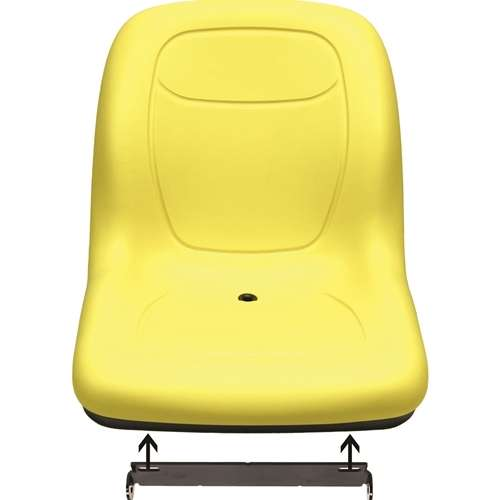 Milsco Seat Hardware : John deere gator mower bucket seat with hinge bracket